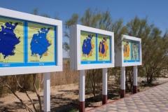 Schilder zum ehemaligen Aralsee