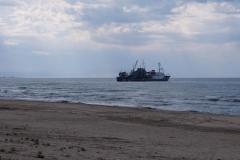 Kaspisches Meer am Strand von Baku
