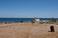 am Strand von Baku