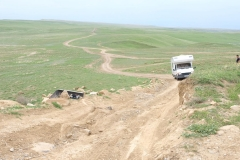 Auf dem Weg nach Udabno