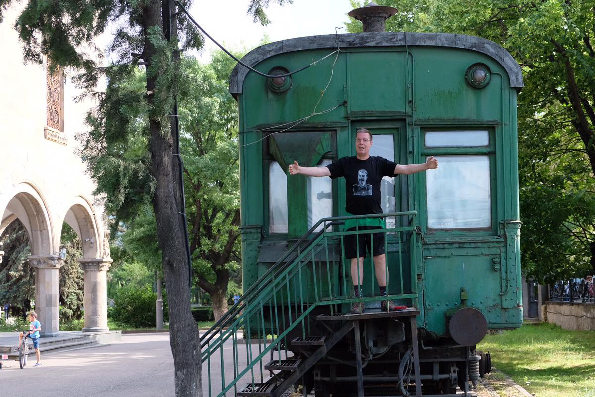 Im Josef-Stalin-Museum in Gori