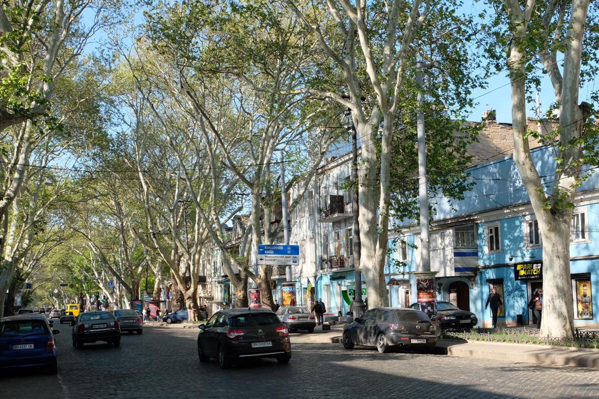 Auf den Straßen von Odessa