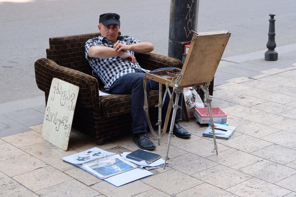 Menschen und Märkte in Tiflis