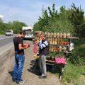 Shopping unterwegs in der Ukraine