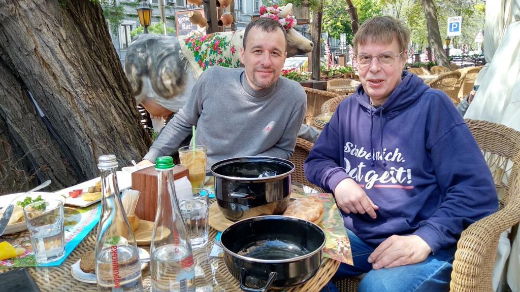 Treffen mit Vitaliy Delku vom Rehabilitationszentrum St. Paul in Odessa
