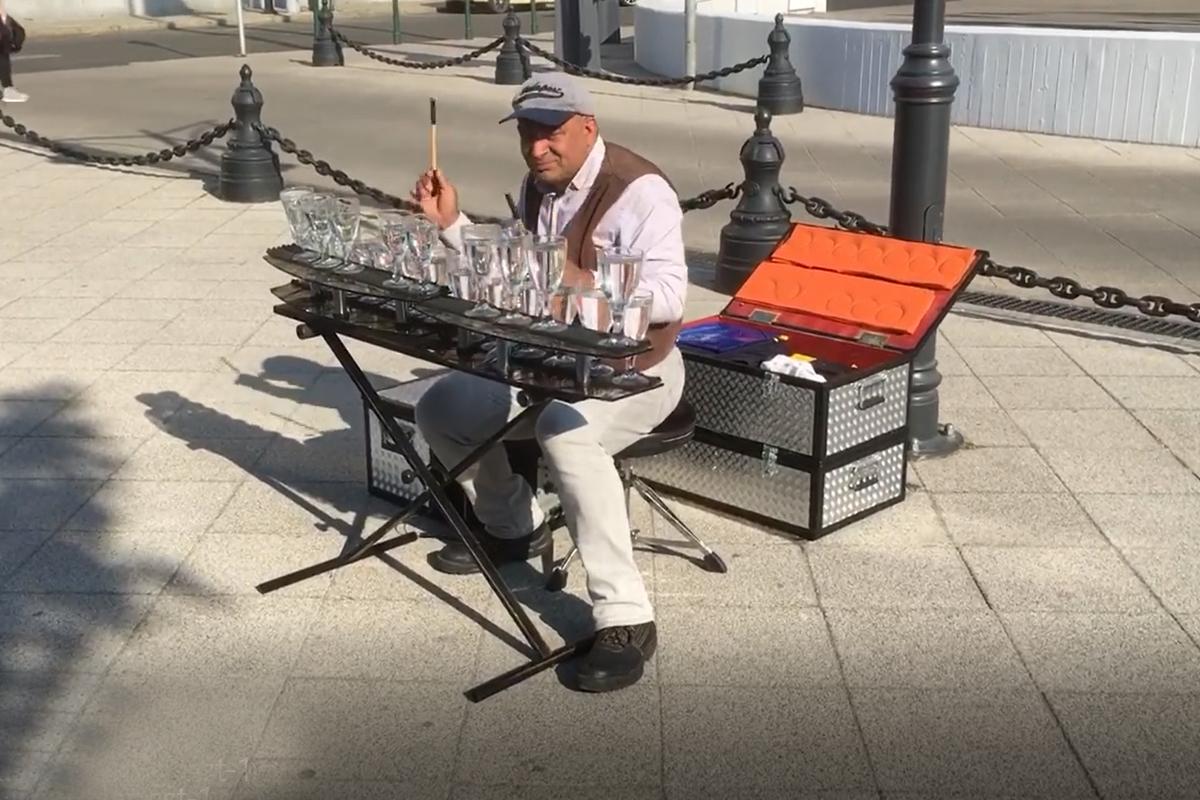 Straßenmusiker in Budapest