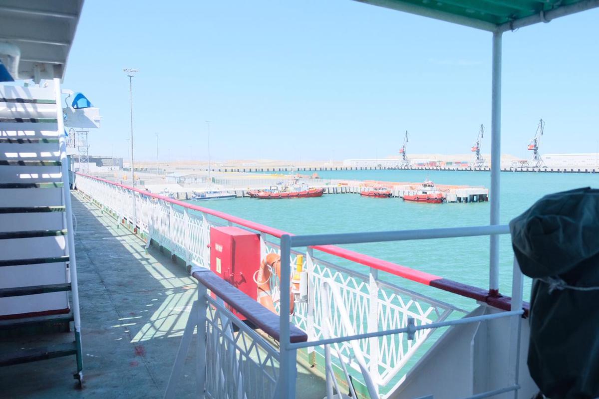 Fähre in Baku