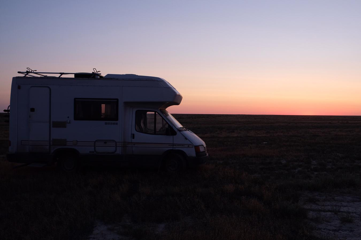 Morgengrauen zwischen Kasachstan und Usbekistan
