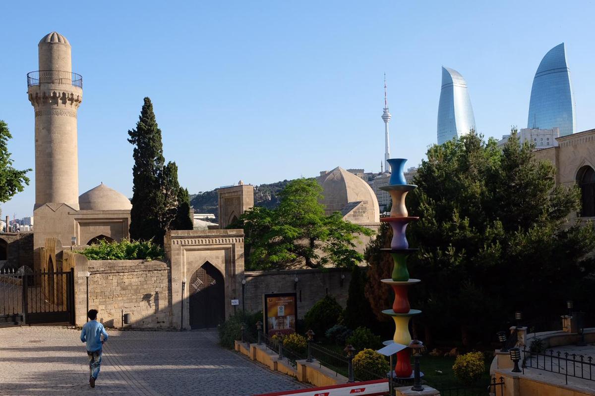 Blick über die Altstadt von Baku