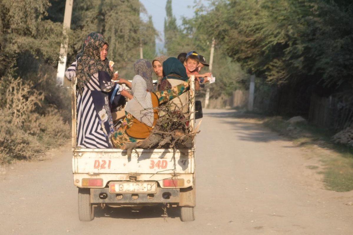 Fahrt von Tash-Kömür nach Arslanbob