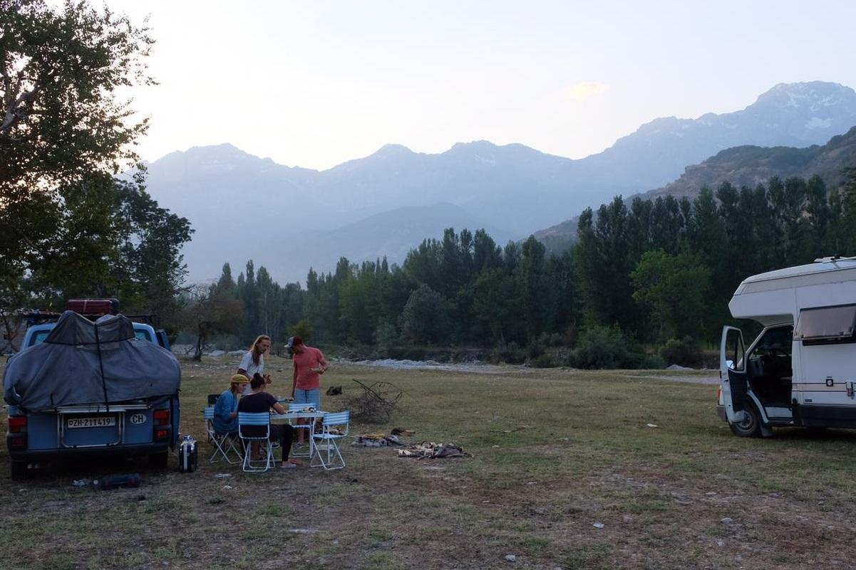 Grenze zwischen Kirgistan und Uzbekistan