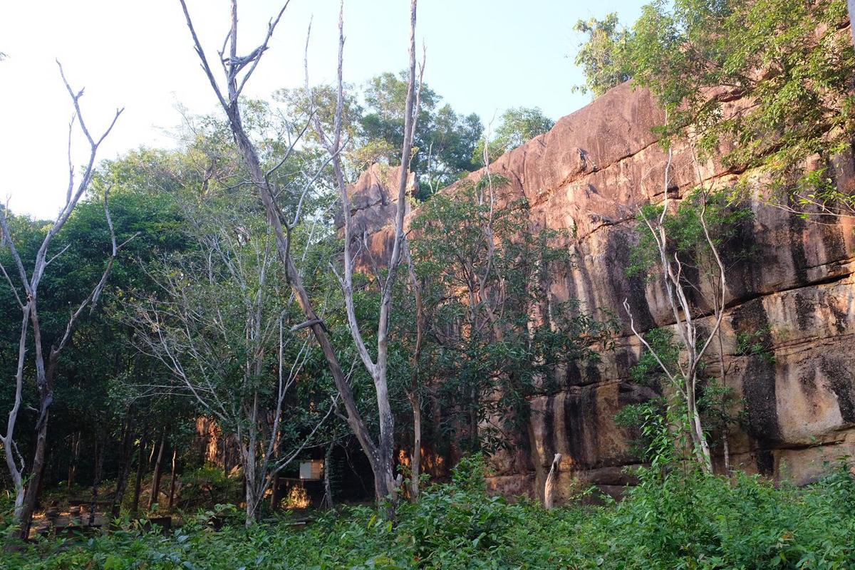 Die Mauer in Laos